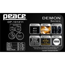 BATTERIA PEACE DEMON DP-101 BLACK