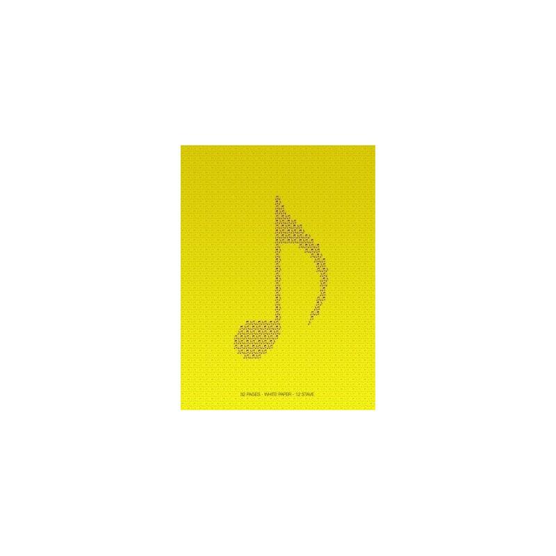 Quaderno da musica pentagrammato 32 pag. 12 righi