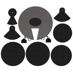 Set di sordine in gomma per batteria - Misure Fusion