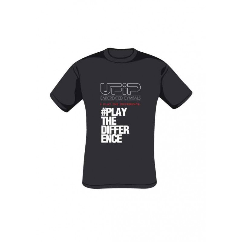UFIP T-shirt Black - Play the difference