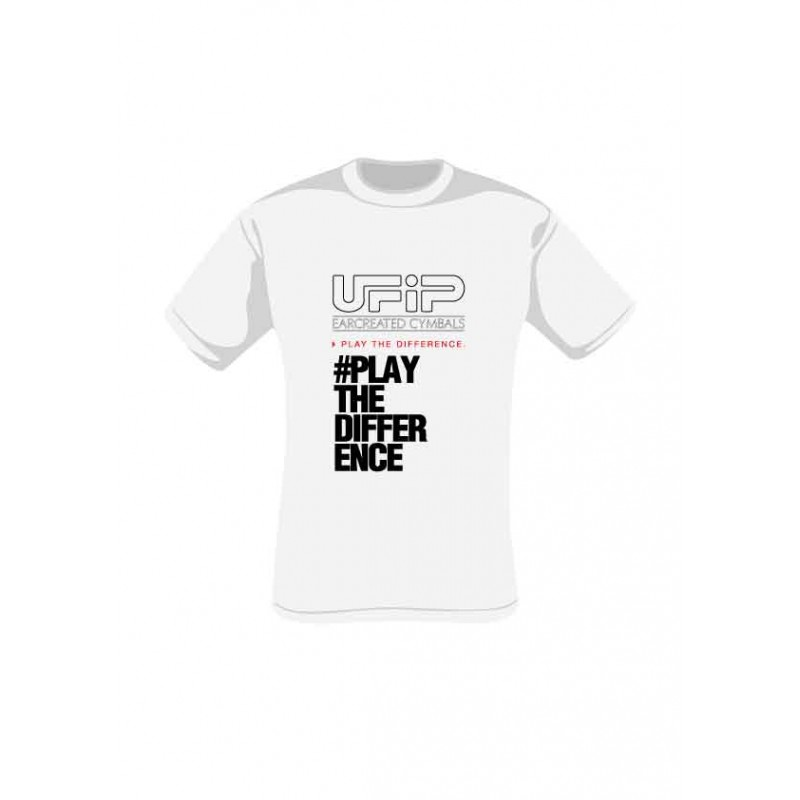 UFIP T-shirt White - Play the difference